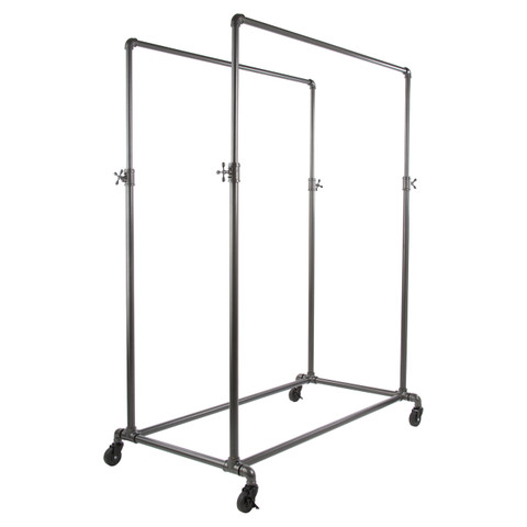 Double Rail Pipeline Clothing Rack