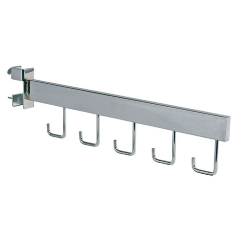 Twist-on Straight with 5J Hooks Add-On Arm for Square Tubing Racks