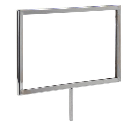 """7""""H x 11""""W Sign Holder for Clothing Racks with 3""""L Swedge Stem"""