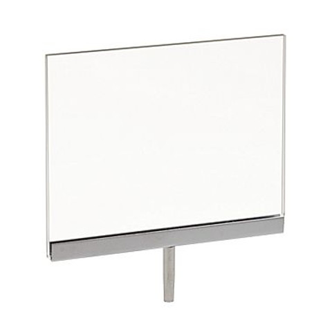 "5.5""H x 7""W Plexi Sign Holder for Clothing Racks with 3""L Swedge Stem"