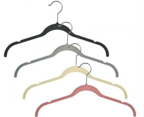 """17"""" Slimline Velvet Dress & Shirt Hanger with Notches"""
