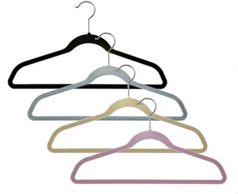 """17"""" Slimline Velvet Suit Hanger with Bar"""