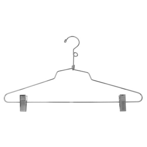 "16"" Steel Suit Hangers with Loop"