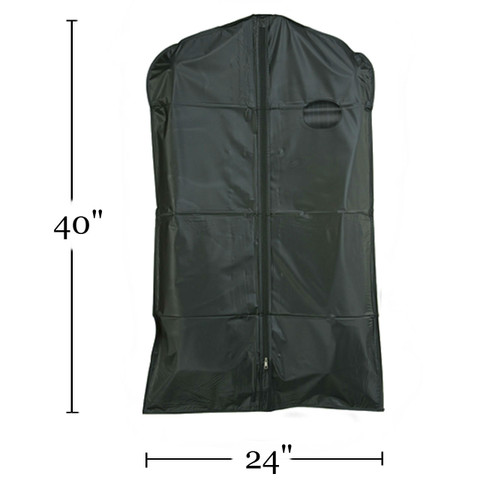 "40"" Heavy Duty Vinyl Zippered Suit Cover BLACK"