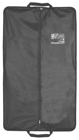 "40"" Heavy Duty Travel Vinyl Zippered Suit Cover BLACK"
