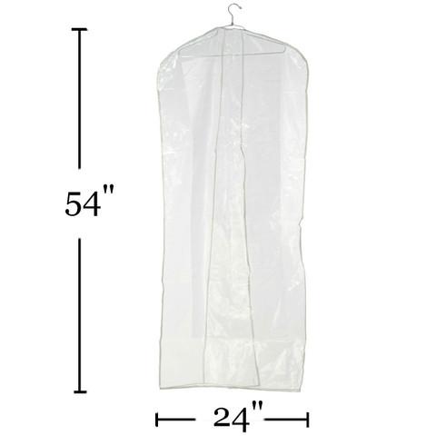 "54"" Clear Suit & Coat Overlap Cover  No Zipper  Min. Quantity 35"