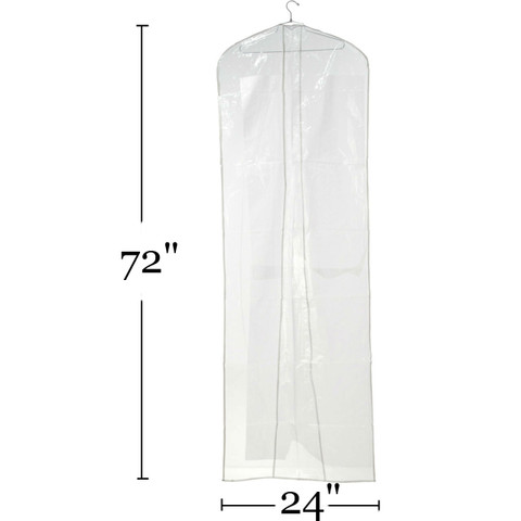 """72"""" Clear Bridal Gown Overlap Cover 