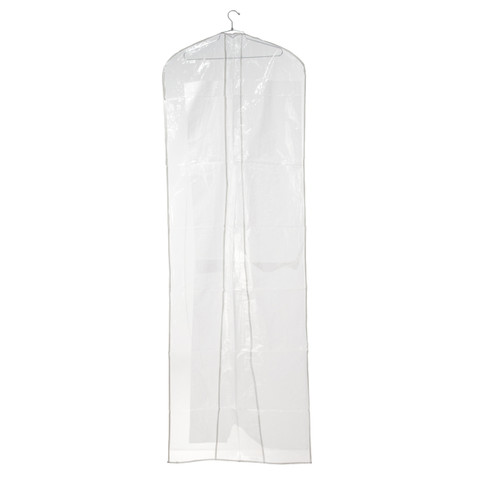 "72"" Clear Bridal Gown Overlap Cover 