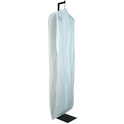"72"" White Vinyl Zippered Bridal Gown Cover"