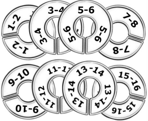 Round Size Dividers | Group Sizes 1/2 to 17/18 0/Size