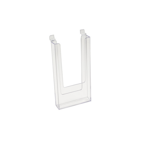 "Slatwall Acrylic Brochure Holder 4"" x 9"" 