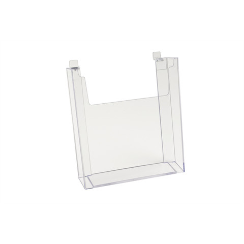 "Slatwall Acrylic Brochure Holder 8.5"" x 11"" 
