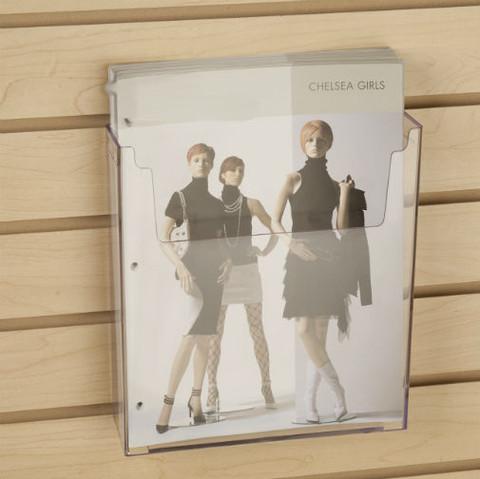 "Slatwall Acrylic Brochure Holder 8.5"" x 11""   Case of 12"