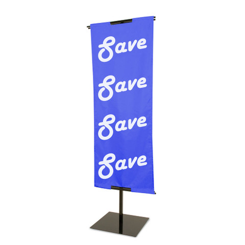 "Banner Display Stands | Adjustable Height 48"" to 84"" 
