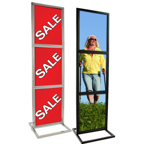 "22"" x 28""  3 Tier Bulletin Sign Holder 