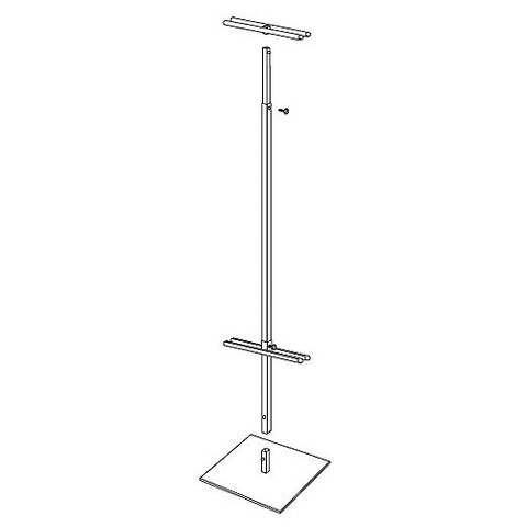 "48""H to 92""H Adjustable Height Classic Banner Stand 