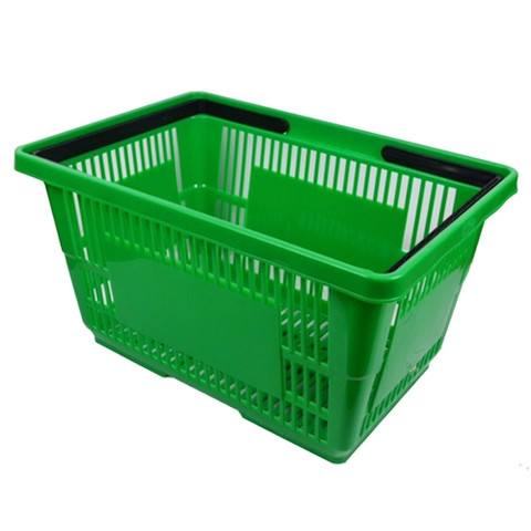 Green Plastic Shopping Baskets