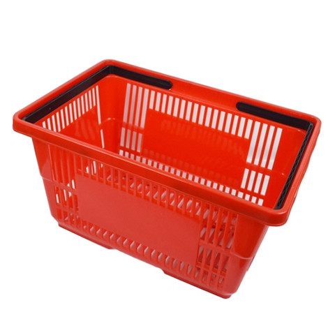 Plastic Shopping Baskets RED | Case Of 6