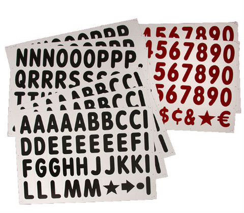 "314 - 4"" Letters & Numbers KIT for WHITE Message Board Sidewalk Sign"