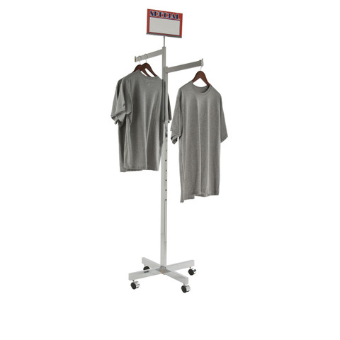 2 Way Rack with TWO Straight Display Arms | CHROME