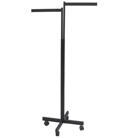 2 Way Rack with TWO Straight Display Arms  Black