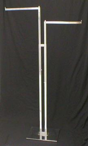 Two Sided Clothing Rack With TWO Straight Arms | Chrome