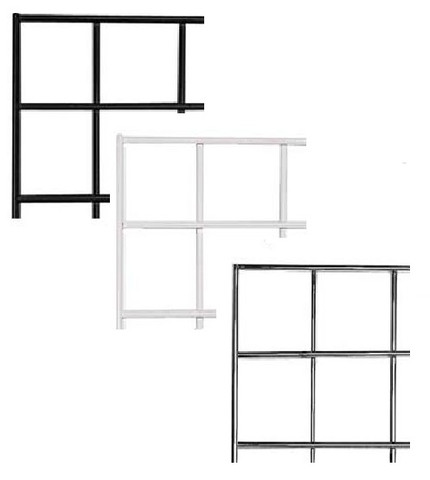 4' X 4' Gridwall Panels | Black, White or Chrome