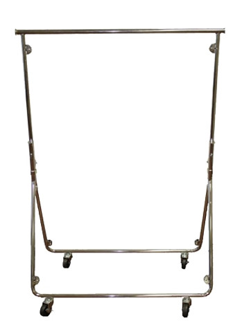 Portable Rolling Garment Rack | Chrome