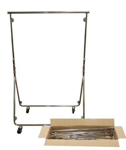Small Folding Rolling  Clothes Rack
