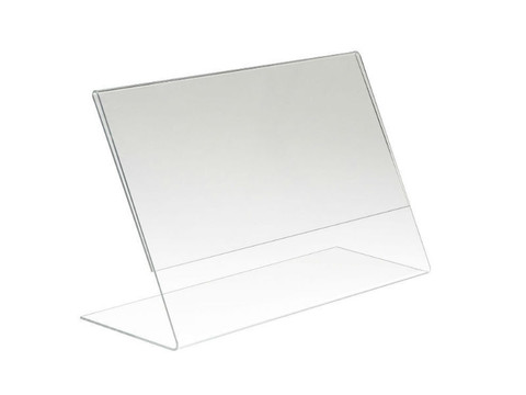 """3.5""""H x 5""""W Acrylic Countertop Sign Holder 