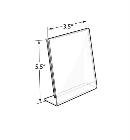 """5.5""""H x 3.5""""W Acrylic Tabletop Sign Holder 