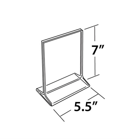 """7""""H X 5.5""""W Double Sided Acrylic Countertop Sign Holder 