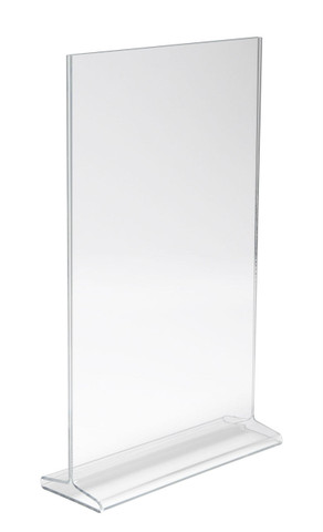"""11""""H X 7""""W Double Sided Acrylic Countertop Sign Holder 