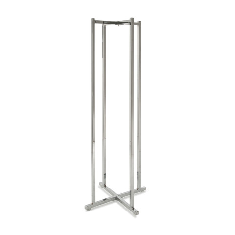 4 Way Folding Lingerie Rack  Frame Only | Chrome
