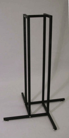 "Texture Black 1"" Square Tube 4 Way Rack Base Only"