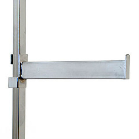 "12"" L Rectangular Twist-on Straight Add-On Arm For Square Tubing Racks"