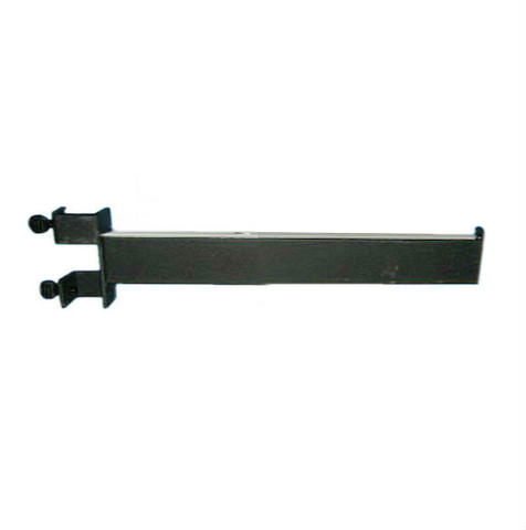 "Texture Black 16"" L Clam-on Straight Add-On Arm For for Rectangular Tube Racks"