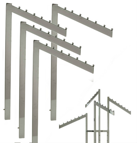 Rectangular 2 & 4 Way Rack Slanted w/ 7 Retaining Studs Replacement Arms