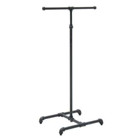 2 Way Pipe Clothing Rack  Matte Black
