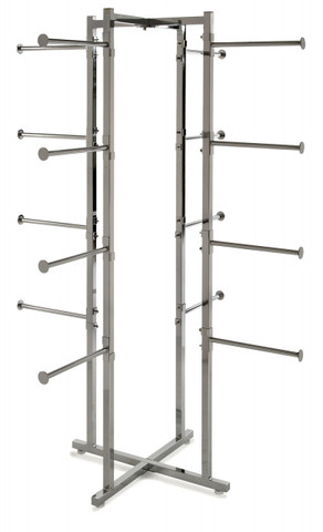 """Folding Lingerie Display Rack With (16) 12"""" Long Round Display Arms"""