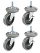 Wheel with Brake for 5 foot Z Rack | 1 Set = 4 pcs
