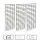 2' X 5' Slatgrid Panels | Black, White or Chrome