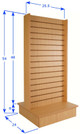 """Double Sided Slatwall Display Fixture 