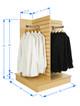 4 Sided Slatwall Display Stand