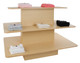 Three Tier Rectangular Wood Retail Display Table | Maple