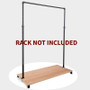 Wood Base For 41 inch MATT BLACK  Pipe Clothing Rack