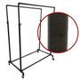 Double Rail Pipe Clothing Rack   COPPERVEIN