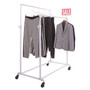 Double Bar Pipe Clothes Rack   Gloss White