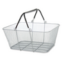 Wire Mesh Shopping Baskets SILVER
