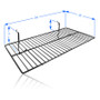 Gridwall Wire Shelf 12in x 24in - Measurement Details